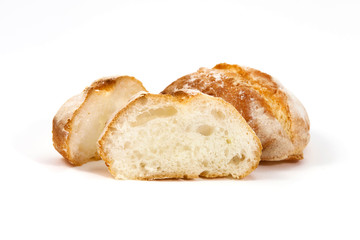 Freshly sliced bread presentation