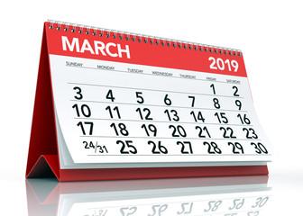 March 2019 Calendar.