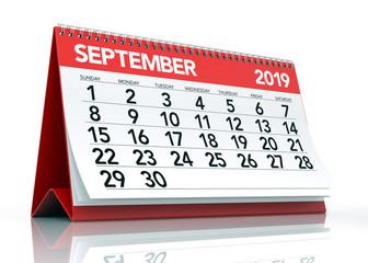 September 2019 Calendar.