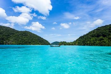 "Beautiful seascape scenery on ""Surin"" island at ""Pangnga"" in Thaland..."