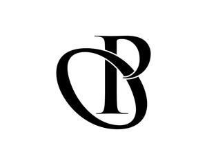 black silhouette initial typography alphabet font typeset logotype image vector icon