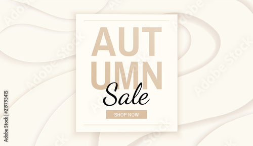 white premium abstract autumn fall sale vector banner wavy minimal