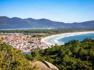 A view of Barra da Lagoa village from Boa vista hiking path - Florianopolis, Brazil