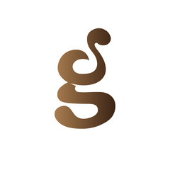 gs initial letter logo icon vector