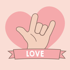 Love Sign Language Romantic