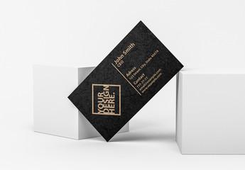 Business Card on Blocks Mockup