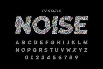 TV static noise effect font design