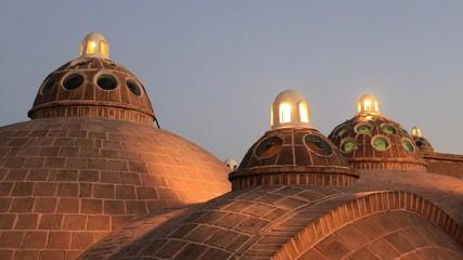 toit du hammam de Kashan, Iran