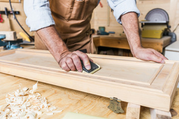 detail of carpenter at work