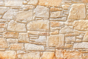 Wall of light, yellow Sandstone. Background image, texture. Wall mural