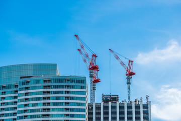 高層ビルの建設工事 Construction work of high-rise building