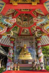 Buddhistischer Tempel am Maenam-Beach, Koh Samui in Thailand