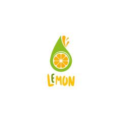 Lemon logo vector. Fresh fruit logo vector template