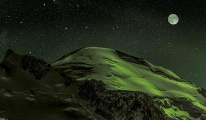 Mont Blanc im Mondschein