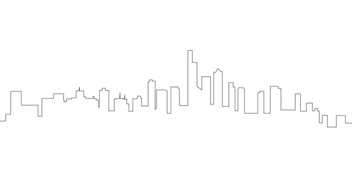 Continous line skyline of Manhattan