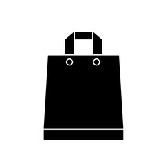 Shopping paper bag handle icon, simple style