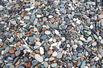 abstract background with many round peeble stones