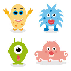 Children Monsters in vector