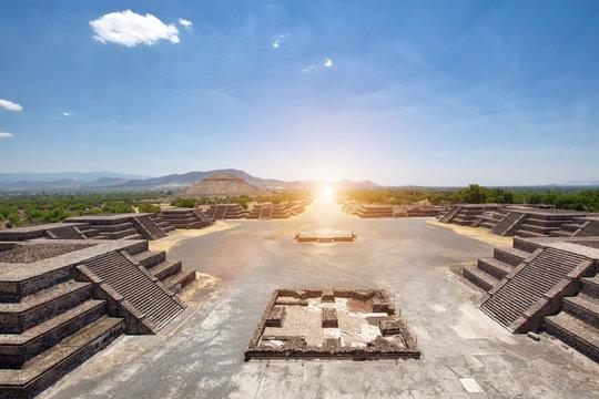 Landmark Teotihuacan pyramids located close to Mexico City