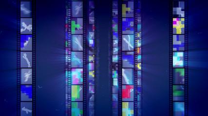 Wonderful Vintage Movie Blue Backdrop