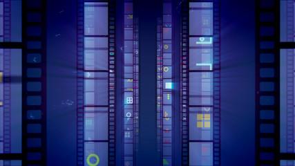 Vintage Film Tape in Violet Backdrop