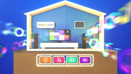 Smart house and smudged musical bubbles