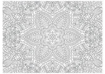 Abstract outline vector pattern