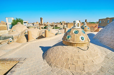 The roof of Qasemi (Sultan Amir Ahmad) Bathhouse, Kashan, Iran