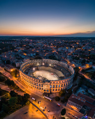 Aerial photo of Arena in Pula