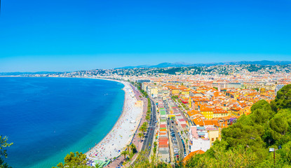 Foto op Canvas Nice Aerial view of Nice, France