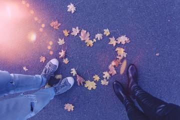 love couple in autumn