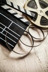 Vintage filmmakers equipment background