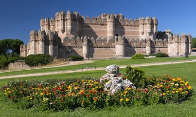 Coca Castle (Castillo de Coca) - 15th century Mudejar castle located in the province of Segovia, Castile and Leon, Spain.