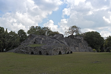 The ruins of the ancient Mayan city of Kohunlich, Quintana Roo, Mexico