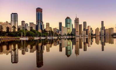 Fototapeta View of Brisbane over the river, Australia obraz