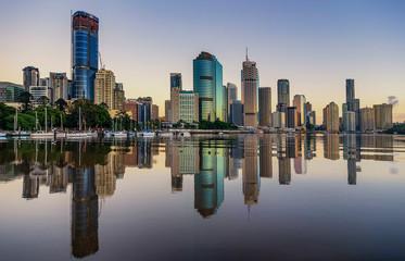View of Brisbane over the river, Australia