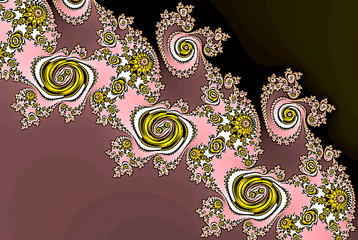 rose lace abstract fractal pattern