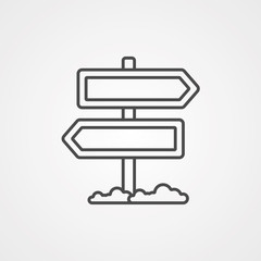 Post sign icon