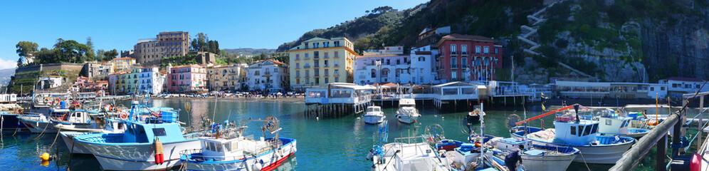 panorama of the original fishing harbour of Marina Grande in SorrentoItaly