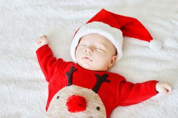 sleeping newborn baby   Santa