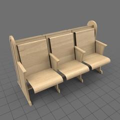 Classic pew seats