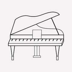 Grand piano icon line element. Vector illustration of grand piano icon line isolated on clean background for your web mobile app logo design.