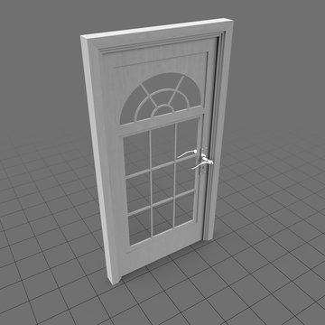 Half moon casement window door