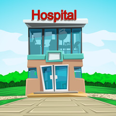 hospital front view