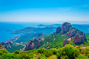 Pic du Cap Roux at Esterel Massif in France