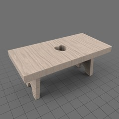 Rustic footstool