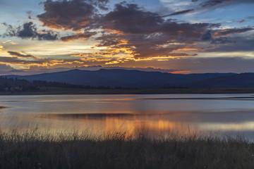 Long exposure image taken after sunset at Big Lake, Arizona.