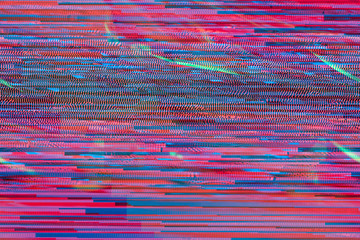 Neon Glitch texture processing computer art