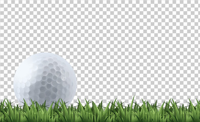 Foto op Plexiglas Bol Golf ball on grass