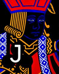 Colorful Blackjack playing card